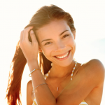 Woman Smiling on Summer Day