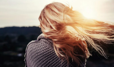 Woman's Hair in Light